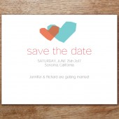 Two Hearts Printable Save The Date
