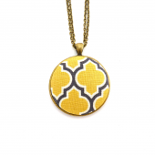 Yellow & Grey Statement Necklace