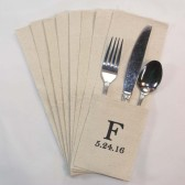 Personalized Utensil Holders - Natural Canvas