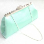 Mint and Ivory Paisley Bridal Clutch
