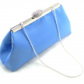 Cornflower Blue and Silver Bridal Clutch