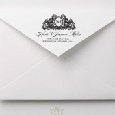 Monogram Elegant Flourish Address Stamp – VG003