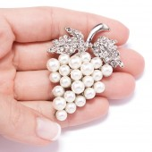 VINEYARD CRYSTAL BROOCH 410