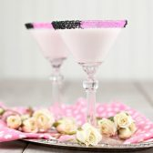 Pink and Black cocktail rim sugar