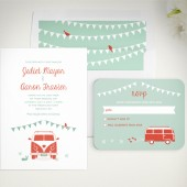 VW Van Modern Wedding Invitation Set