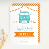 VW Van Modern Save The Date