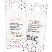 Confetti celebration wedding door hangers – Vanessa