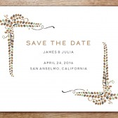 Vine Printable Save The Date