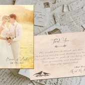 "Wedding Thank You Cards - Lyon Vintage Photo Personalized 4""x6"""