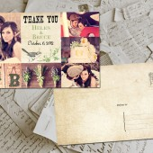 "Wedding Thank You Card - Toulouse Vintage Photo Personalized 4""x6"""