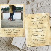 "Save The Date Polaroid Cards - HollaPark Vintage Photo Personalized 4.25""x5.5"""