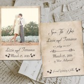 "Save The Date Polaroid Cards - PigeonForge Vintage Photo Personalized 4.25""x5.5"""