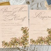 Wedding Invite and RSVP - Pierrette Vintage Elegant Personalized Card Suite