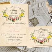 Wedding Invite and RSVP - Joleigh Vintage Rustic Personalized Card Suite