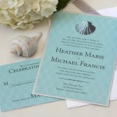 Vintage Sea Shell Wedding Invitation
