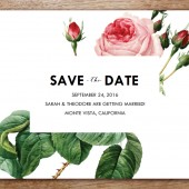 Save the Date Template - Vintage Roses