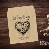 Rustic Heart Wreath Wedding Seed Packets