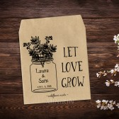 Rustic Wedding Seed Packets Favor