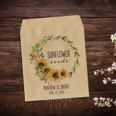 Wedding Seed Packets Sunflower Wreath