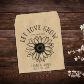 Sunflower Seed Packets Rustic Wedding Favor