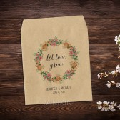 Peach Peony Wedding Favor Seed Packets