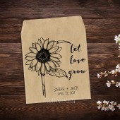 Wedding Seed Packets Rustic Sunflower Favor