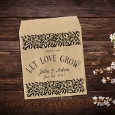 Wedding Favor Seed Packets Vintage Wildflowers