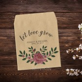 Wedding Seed Packets Pink Peony Bouquet