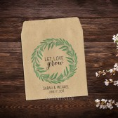 Wedding Seed Packet Favors Eucalyptus Wreath