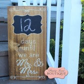 Double sided, Wedding Countdown, Wood Sign