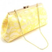 White and Sunshine Yellow Bridal Clutch