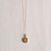 WHITE TRUFFLE GILDED CRYSTAL NECKLACE