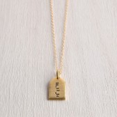 WHITE TRUFFLE PERSONALIZED TAG NECKLACE