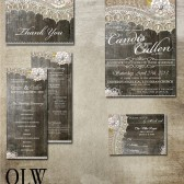 Rustic Wood Lace Wedding Package