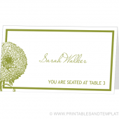 Place Card Template - Walker Design