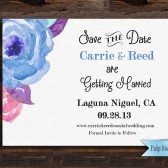 Pulp Sisters Paperie Printable Watercolor Floral Save the Date