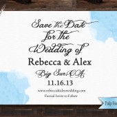 Pulp Sisters Paperie Printable Watercolor Ocean Save the Date