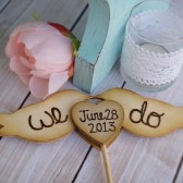 We Do Love Birds with Date Cake Topper