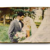 Custom photo on wood