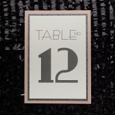 Art Deco Glitter Wedding Table Number