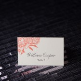 Peony Wedding Escort Cards