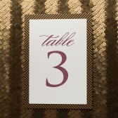Art Deco Wedding Table Number