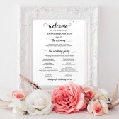 Wedding programs instant download
