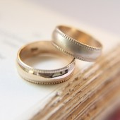 14K Gold Wedding Band Set