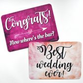 Plastic Wedding Photo Booth Signs