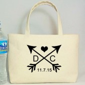 Arrow Design, Wedding Welcome Bag, Out of Town Gift Totes, Personalized Wedding Favor Bag