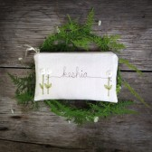 White Personalized Bridal Clutch