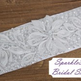 Whitney Bridal Sash - SparkleSM Bridal Sashes