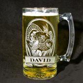 Gifts for Groomsmen Wild Turkey Beer Mug Personalized