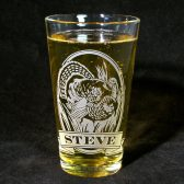 Personalized Wild Turkey Pint Glass
